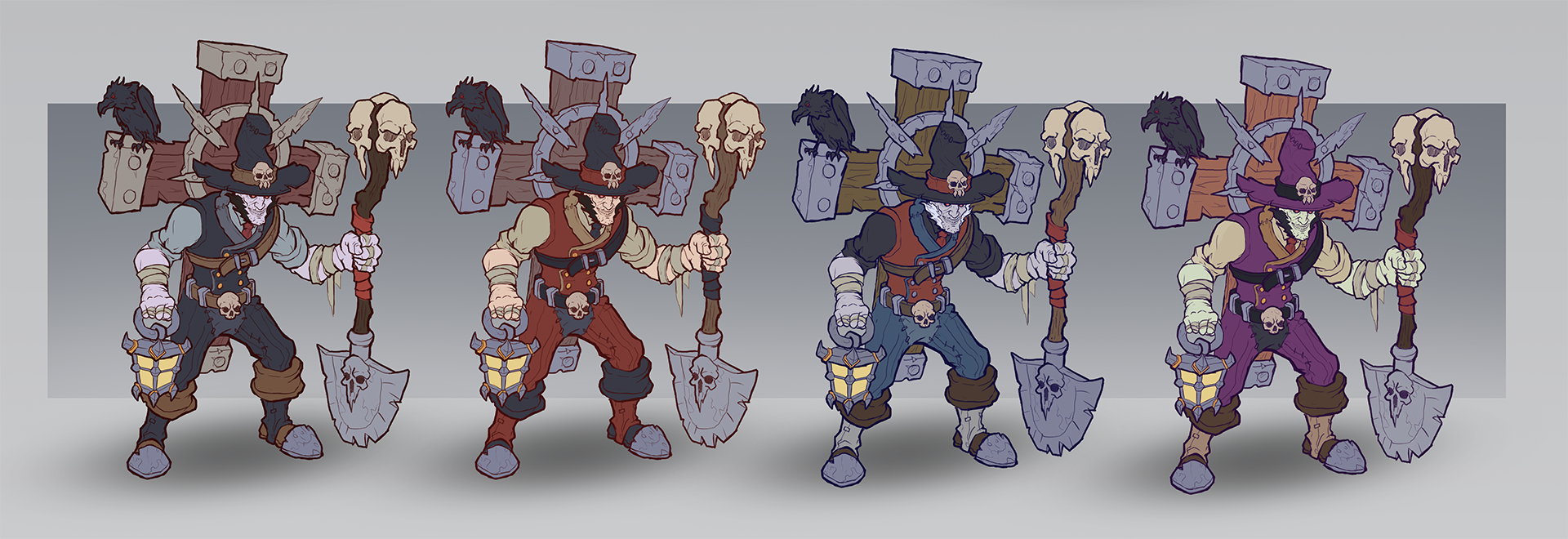 colored character concept art version