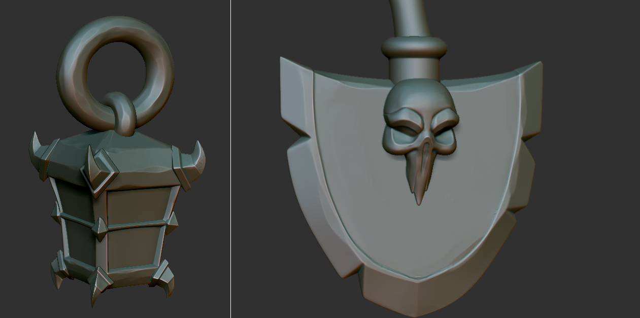 High poly model of the character
