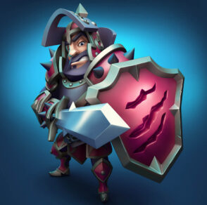 Knight 3d character design