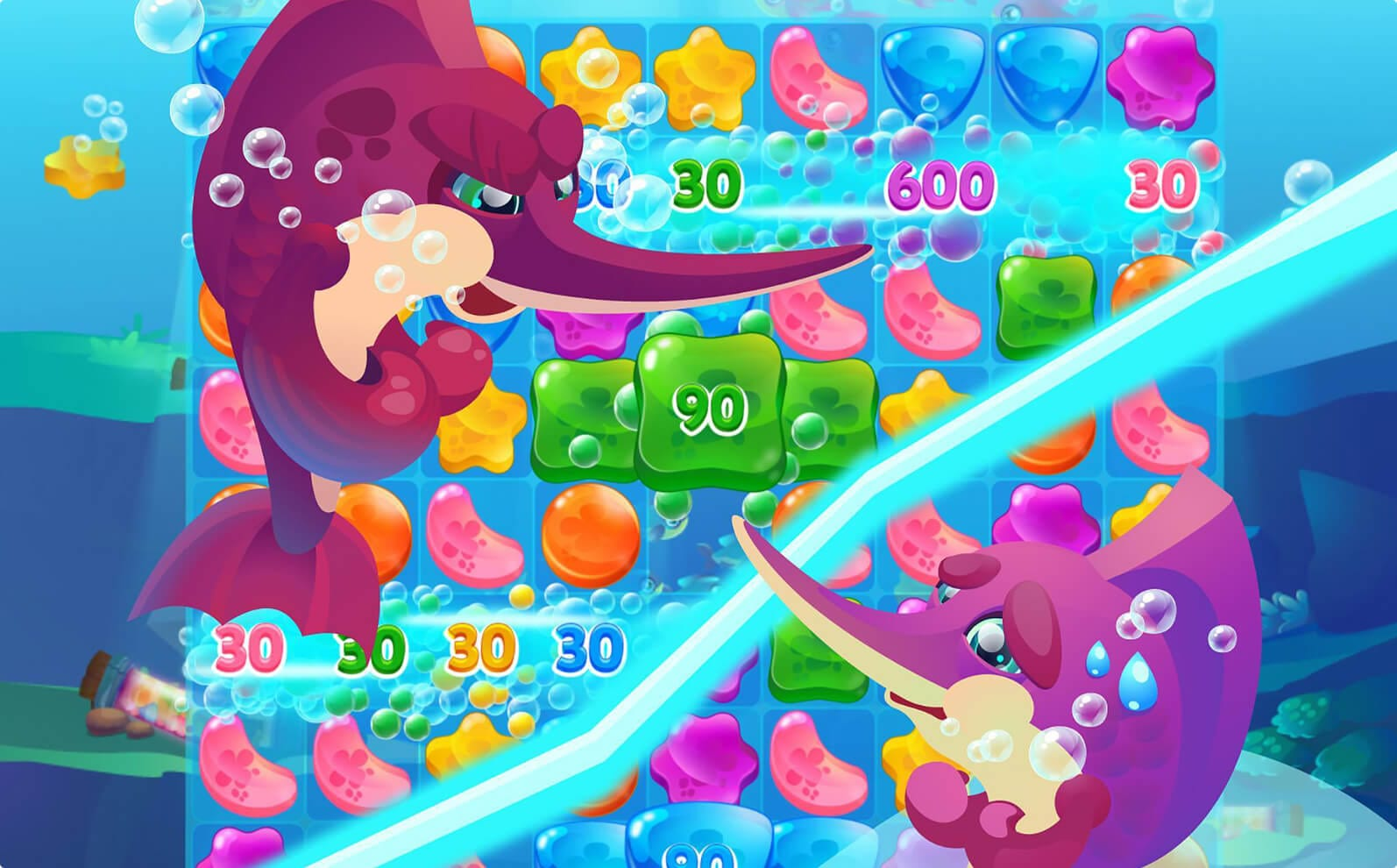 Jelly Jellies is a mobile match 3 game co-development
