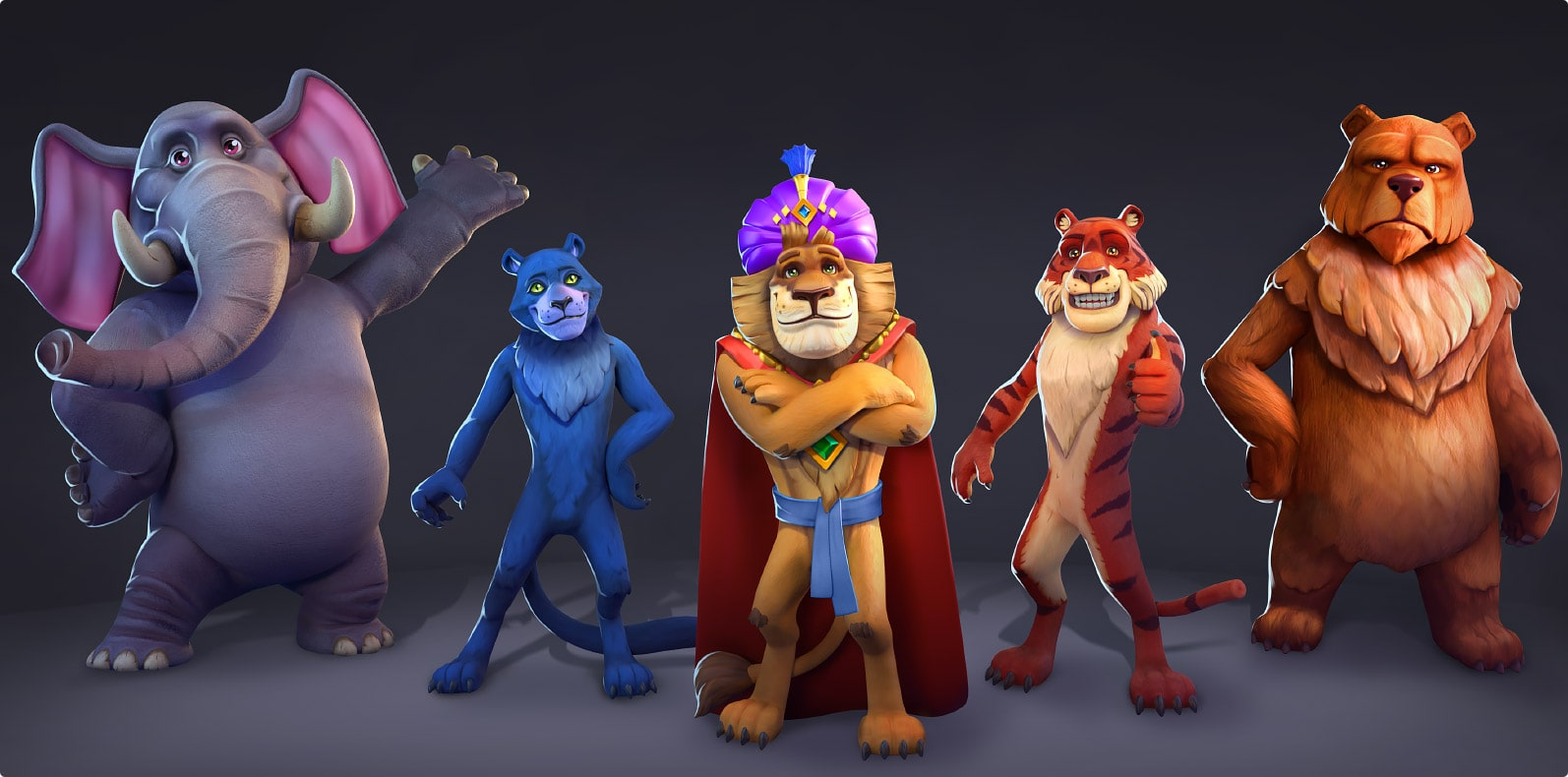Jungle squad characters design