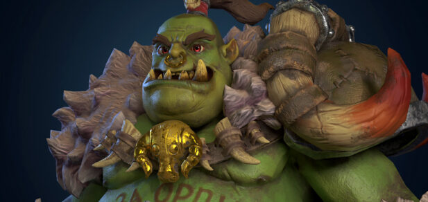 Orc Game character 3d model creation