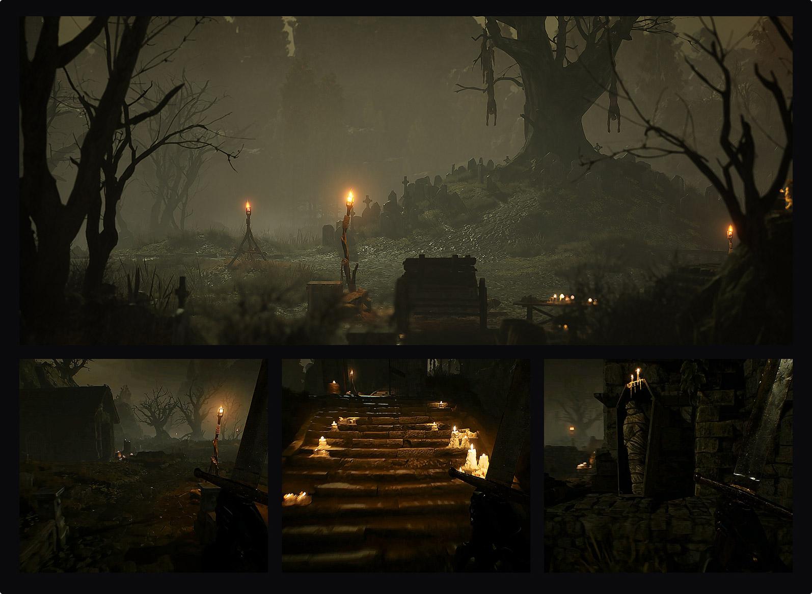 Swamp cemetery concept art design